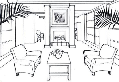 sketch a room 1000 images about graphics on pinterest perspective drawing one point perspective and