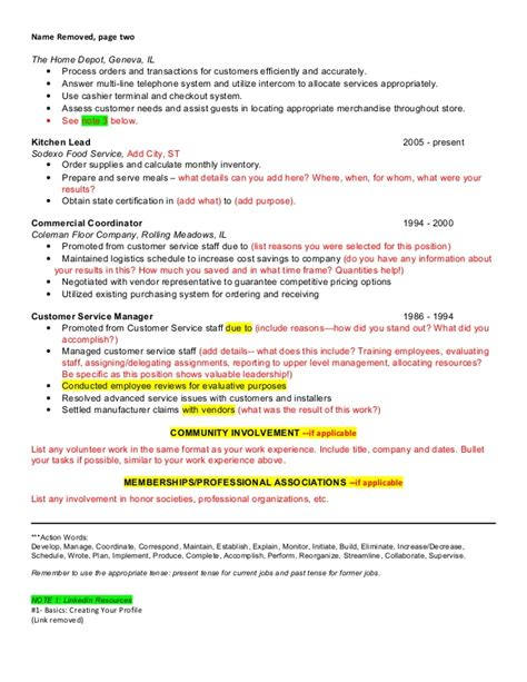 Home Depot Resume Exle by Resume Review Sle