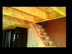 creation d39un etage dans un garage youtube With faire un garage en bois