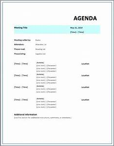 formal meeting agenda template free template downloads With agendas for meetings templates free