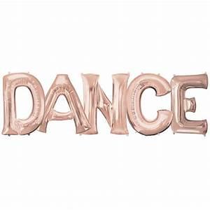 dance 34 inch rose gold foil letter balloon pack 1 With rose gold letter balloons