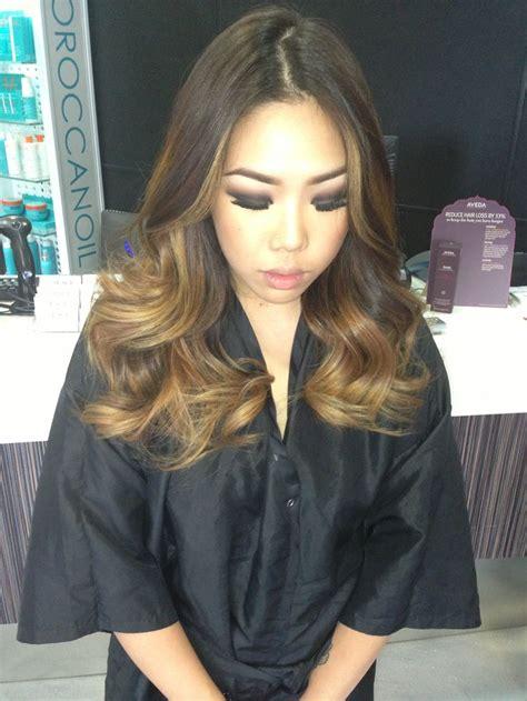 Ombré On Beautiful Asian Hair Heavy Balayage Highlights