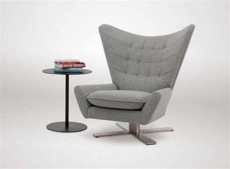 Living Room Swivel Chairs With Modern Design In Grey Color