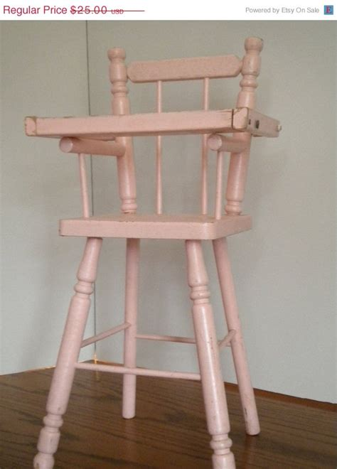on sale baby doll high chair pink with serving tray vintage
