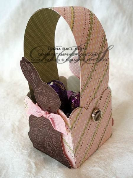 chocolatebunny mini basket ball by paperball at splitcoaststers