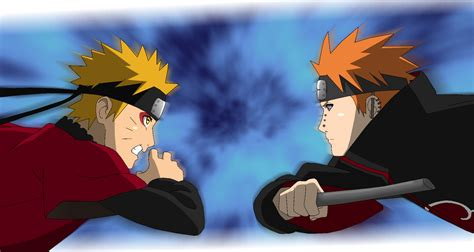 naruto vs pain opening 07 lineart colored by