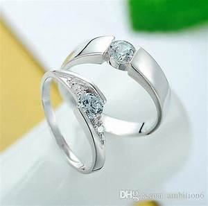 2016 free sample 925 sterling silver rings couple ring for Sample of wedding rings