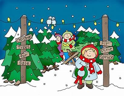 Christmas Tree Lot Stamps Clip Clipart Digi