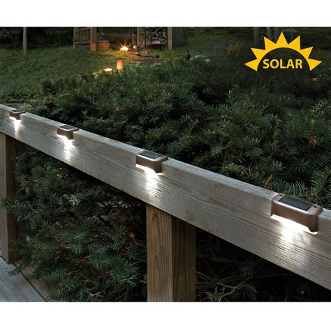 solar led deck lights solar led deck lights set of 4 from sporty 39 s tool shop