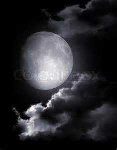 Night Sky Moon Clouds