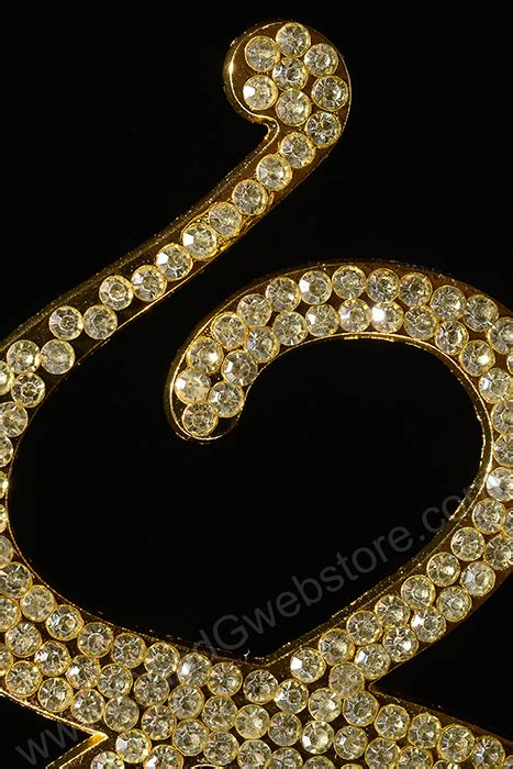 5 quot rhinestone gold number 4 5 quot rhinestone number quot 8 quot cake topper gold