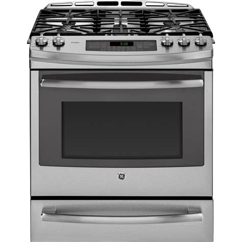gas cooktop stove pgs920sefss ge profile 30 quot slide in gas range