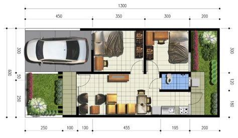 macam denah rumah type  inspirasi desain rumah