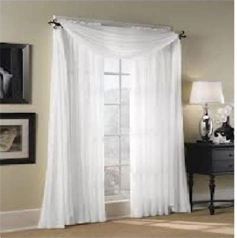 Draping Sheer Curtains - 2pc sheer voile panel drape curtain window treatment in