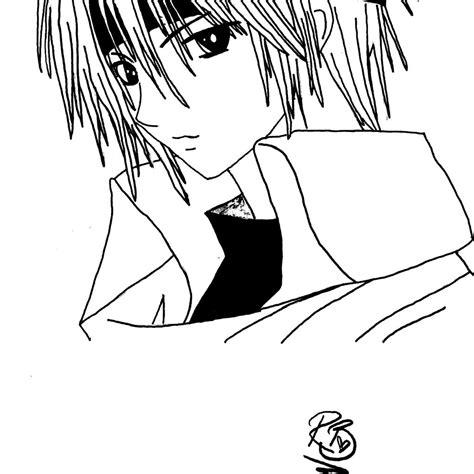 anime guy coloring pages dibujos manga  pintar