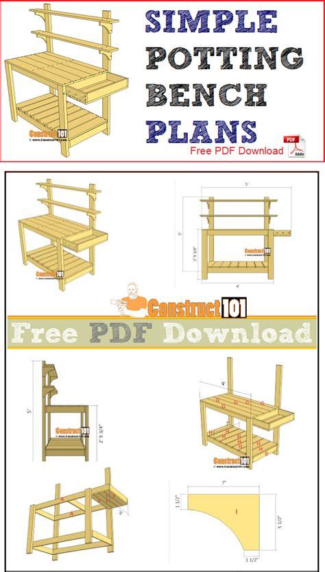 simple potting bench plans   potting bench