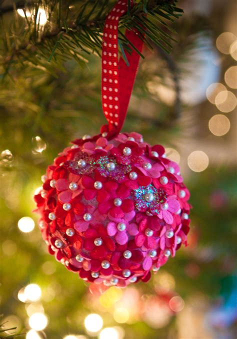 christmas flower ornaments 10 diy ornaments you can make with your blissfully domestic