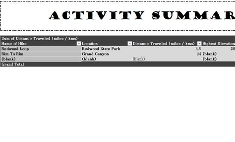 outdoor recreation list  excel templates
