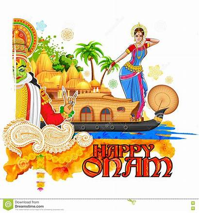 Onam Kerala Culture Illustration Background Vector India