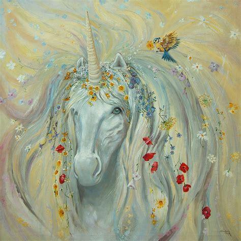 unicorn  painting  silvia duran