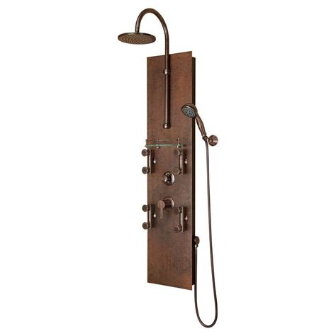 shower rubbed bronze pulse showerspas mojave 8 jet shower system in rubbed