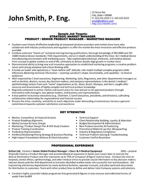 strategic market manager resume template premium resume