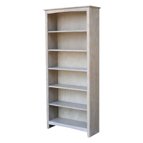 sh     tall shaker bookcase unfinished