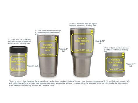 marking area  customized yeti rambler colster lowballjpeg cup decal decals  yeti cups