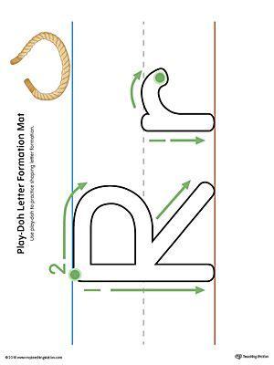letter formation play doh mat letter  printable color