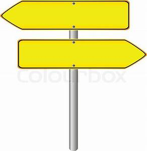 Blank yellow road sign on white background. | Stock Vector ...