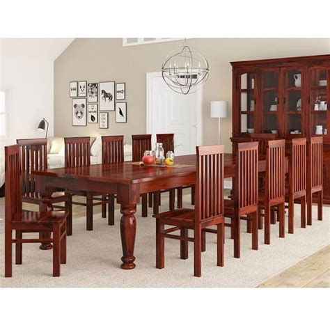 clermont rustic furniture solid wood large dining table