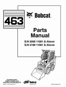 Bobcat 463 Skid Steer Loader Parts Manual Pdf Download