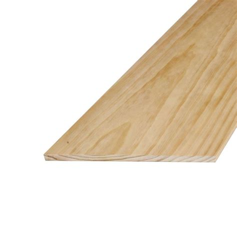 home depot pine alexandria moulding 1 in x 12 in x 8 ft s4s radiata pine board 00q45 2r096 the home depot