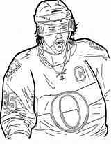 Colouring Hockey Karlsson Erik sketch template