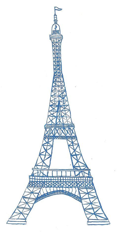 sketch  eiffel tower clipart