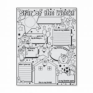 Color your own star of the week posters oriental trading for Star of the week poster template