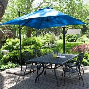 Coral Coast 8-ft  Square Offset Patio Umbrella