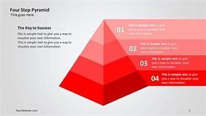 Four Step Pyramid 3d Ppt Diagram