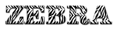 clipart zebra typography enhanced 3