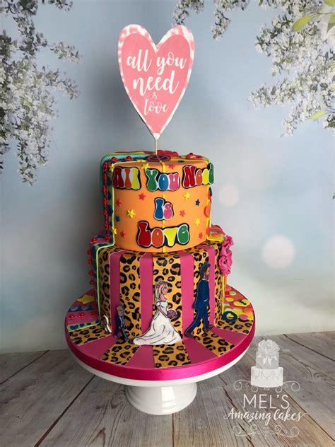 Beatles Inspired Wedding Cake Mels Amazing Cakes