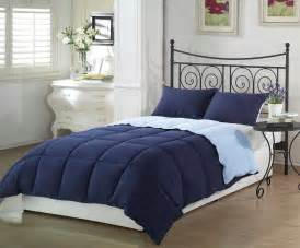 the chezmoi goose down queen blue comforter set reviews home best furniture
