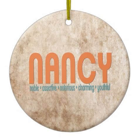 nancy name meaning christmas tree ornament zazzle