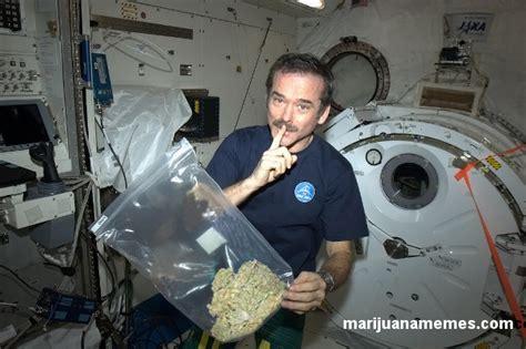 colonel chris hadfield high  space marijuana memes