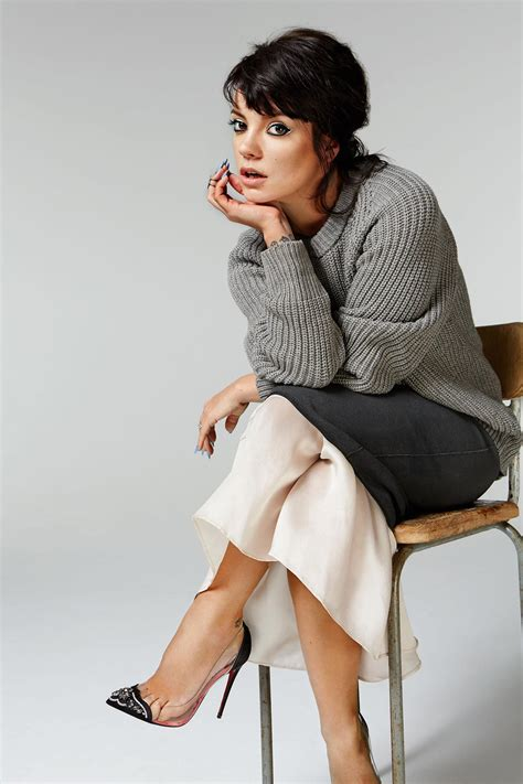 lily allen photoshoot  glamour magazine uk june