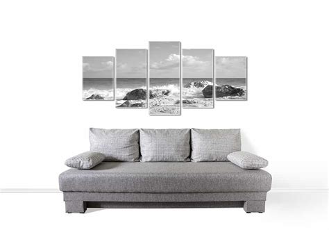 Instead of lots of little pieces, consider hanging one large painting on the wall over your sofa. 15 Creative Ideas for Wall Decor Above Couch - Homenish
