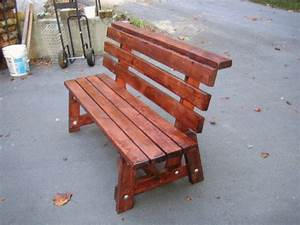 Diy 2x4 bench with back can39t wait to make this with a for Diy bench with back