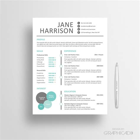 Creative Resume Templates Free Word by Creative Resume Template Cover Letter For Word Design