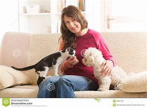 owner with cat and dog stock image image 36907331 With dog sitting in my home