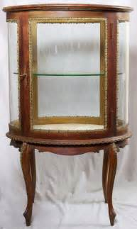 curved glass curio cabinet at 1stdibs