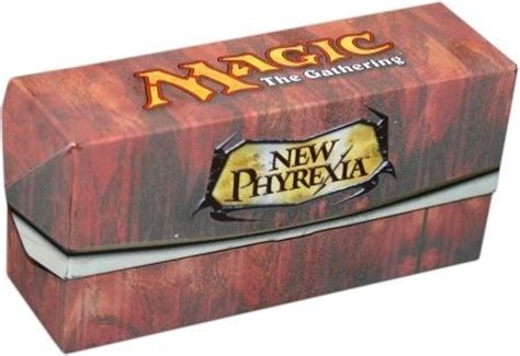 magic the gathering new phyrexia event deck new phyrexia empty white deck box from the event